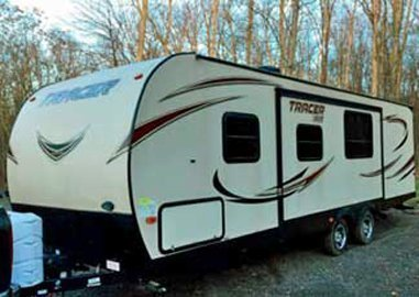 Tracer Camper Rental by Rental Outfitters Bedroom with Awning